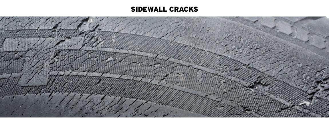 TIRE DAMAGE INCLUDING CRACKS, TREAD WEAR, AND SIDEWALL BULGES